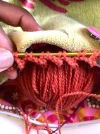 A bit of train knitting